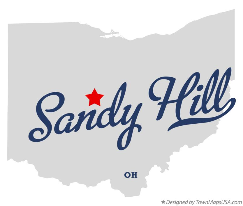 Map of Sandy Hill Ohio OH