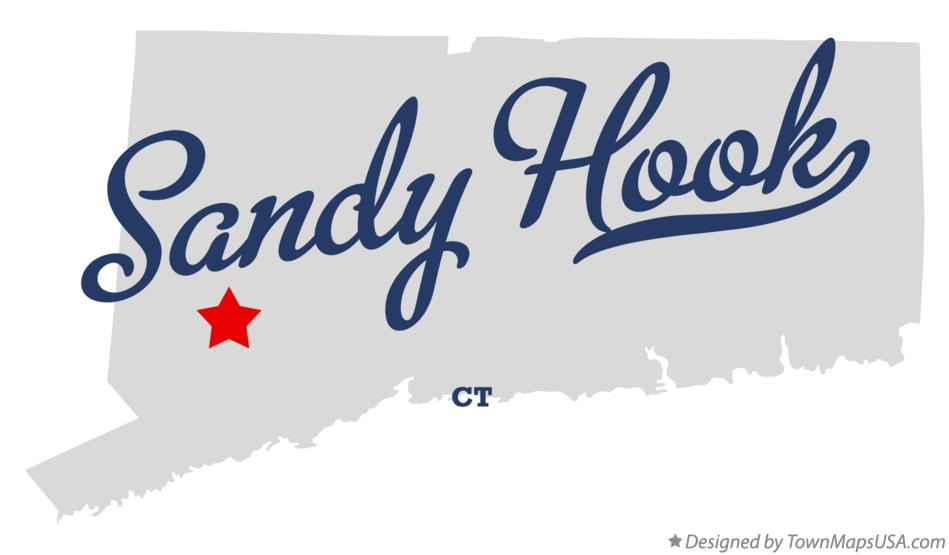 Map of Sandy Hook Connecticut CT