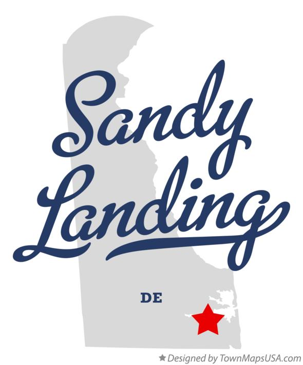 Map of Sandy Landing Delaware DE
