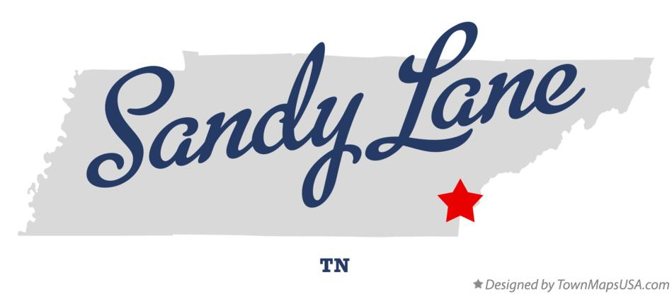 Map of Sandy Lane Tennessee TN