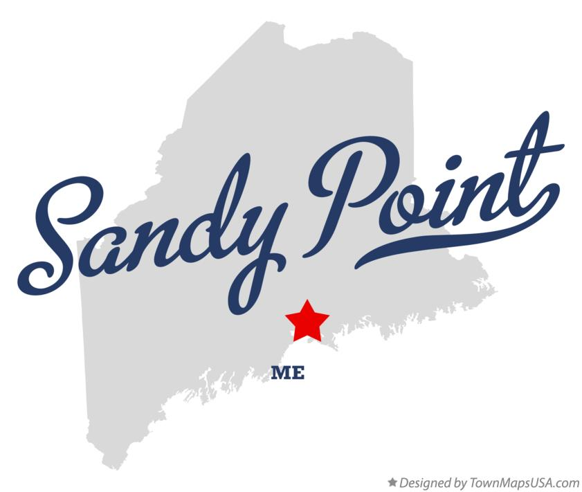 Map of Sandy Point Maine ME