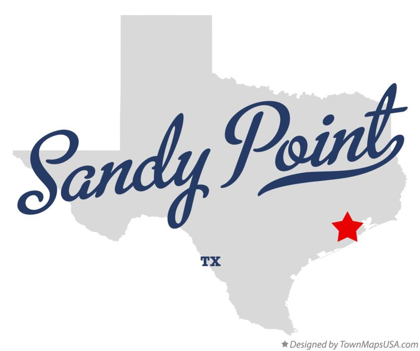 Map of Sandy Point Texas TX