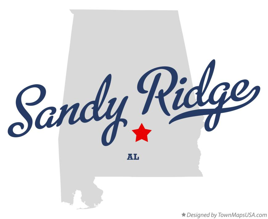 Map of Sandy Ridge Alabama AL