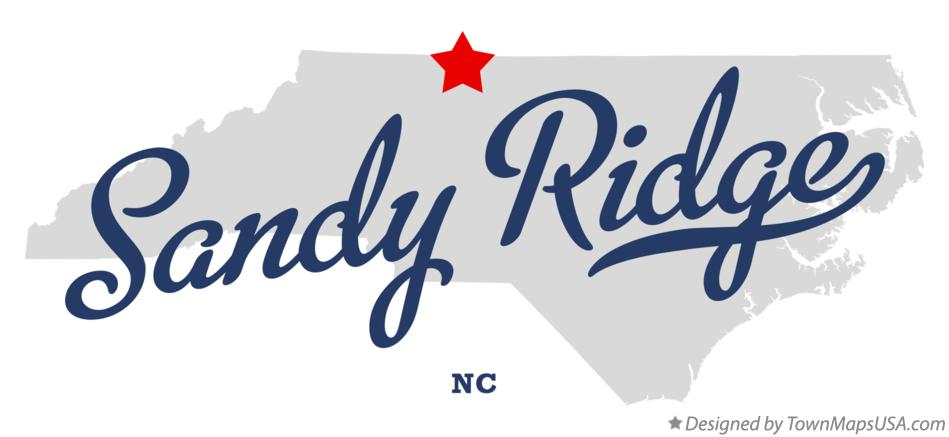 Map of Sandy Ridge North Carolina NC
