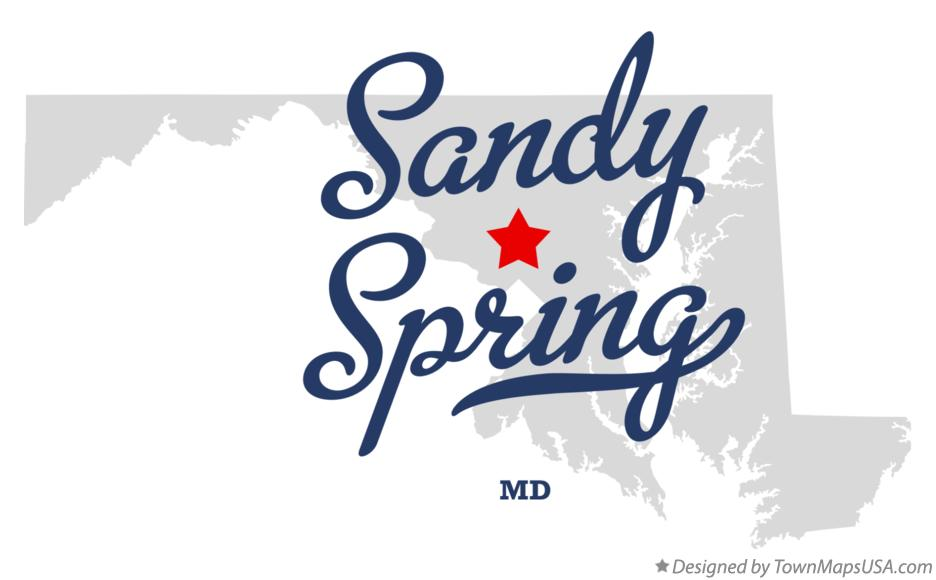 Map of Sandy Spring Maryland MD