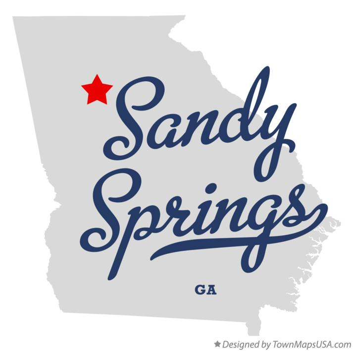 Map of Sandy Springs Georgia GA