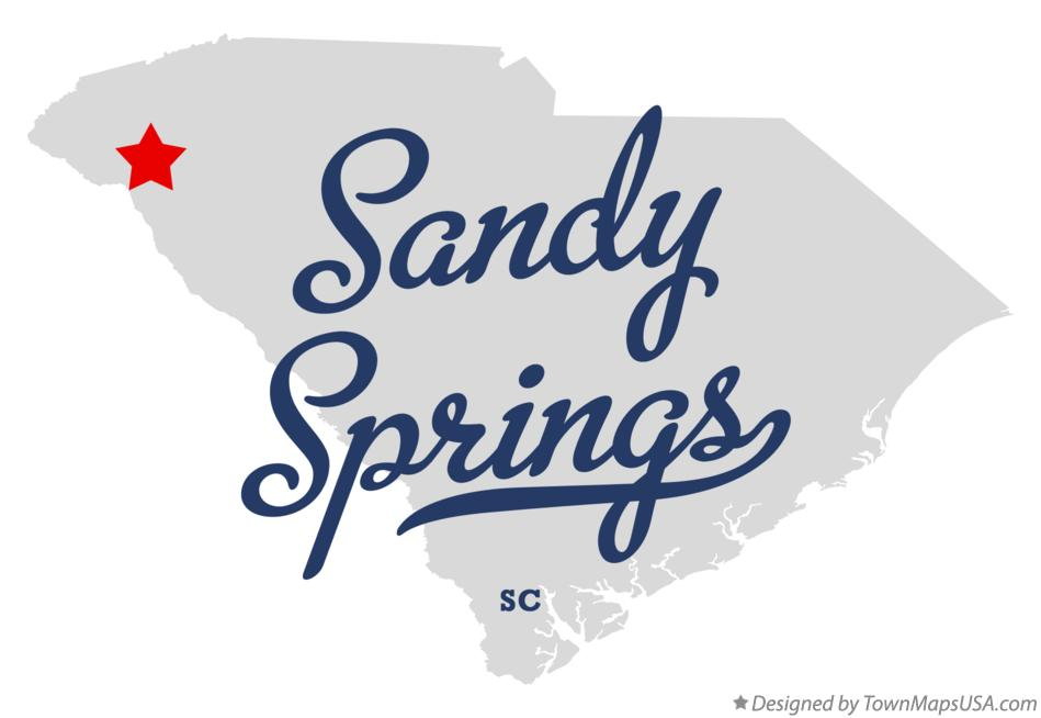 Map of Sandy Springs South Carolina SC