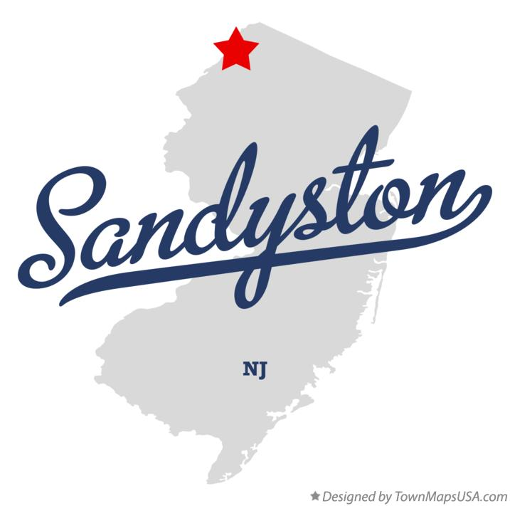 Map of Sandyston New Jersey NJ