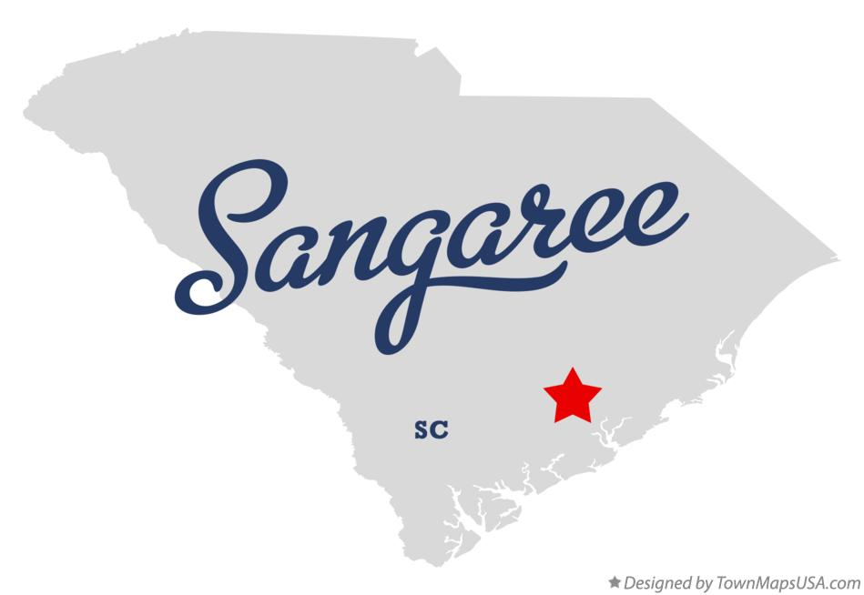 Map of Sangaree South Carolina SC