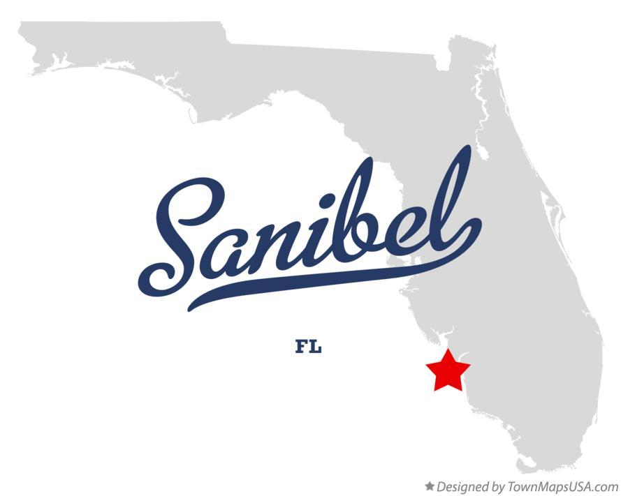 Sanibel Beach Florida Map.Map Of Sanibel Fl Florida