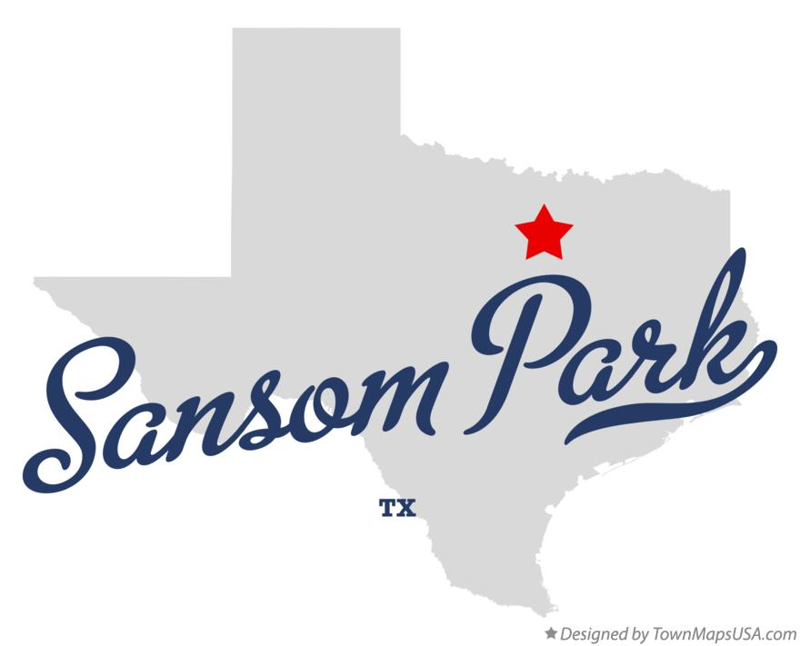 Map of Sansom Park Texas TX
