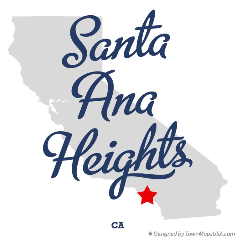 Map of Santa Ana Heights California CA