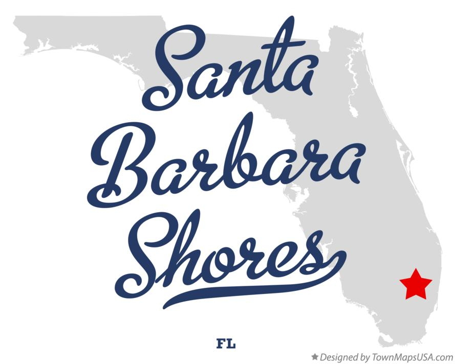 Map of Santa Barbara Shores Florida FL