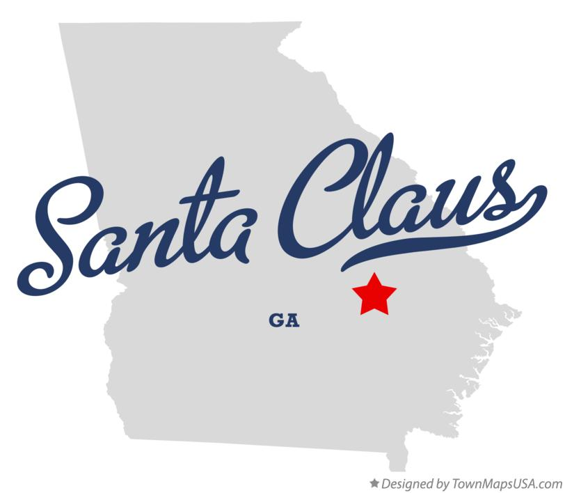 Map of Santa Claus Georgia GA