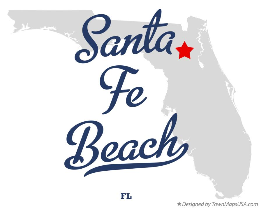 Map of Santa Fe Beach Florida FL