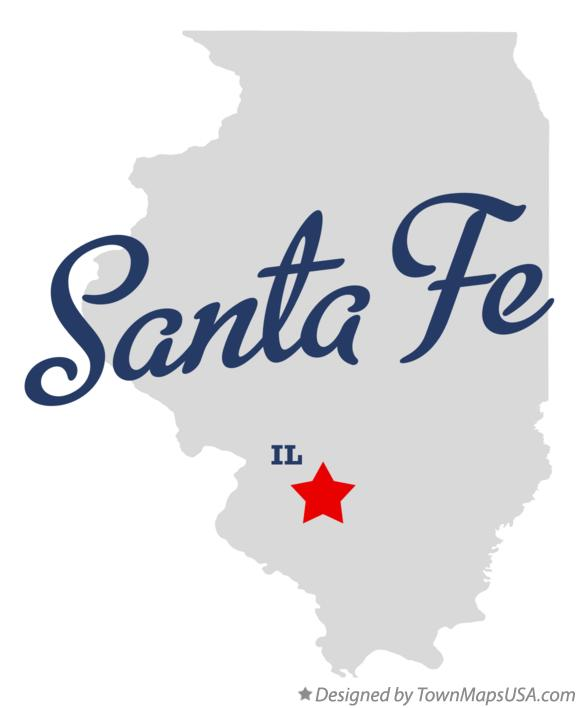 Map of Santa Fe Illinois IL