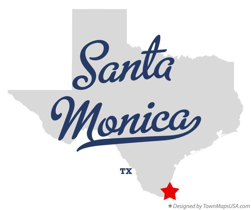 Map of Santa Monica Texas TX