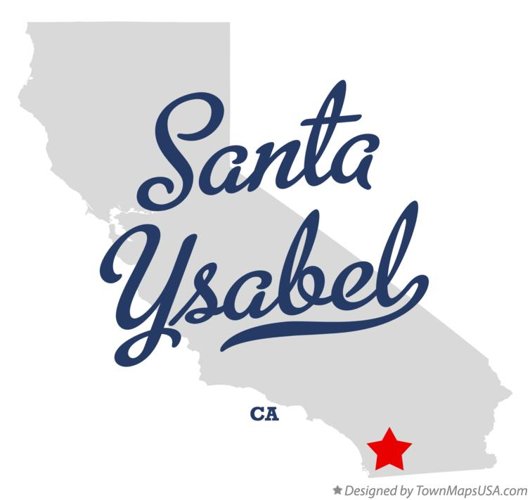 Map of Santa Ysabel California CA