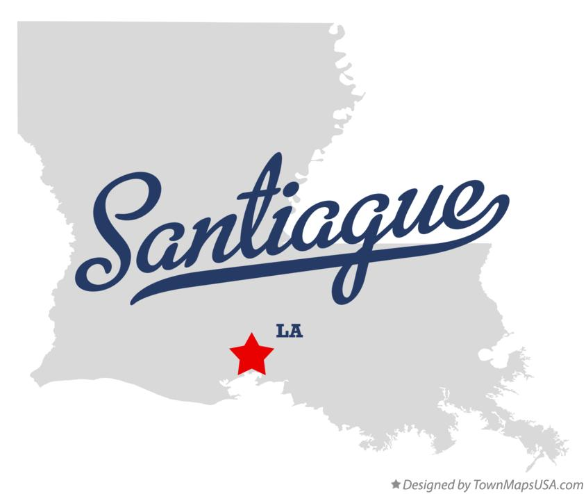 Map of Santiague Louisiana LA