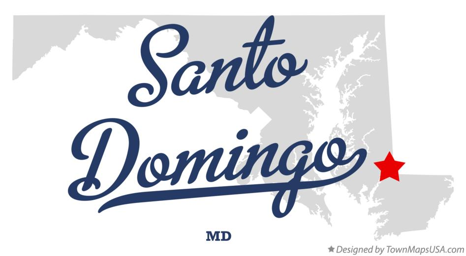 Map of Santo Domingo Maryland MD