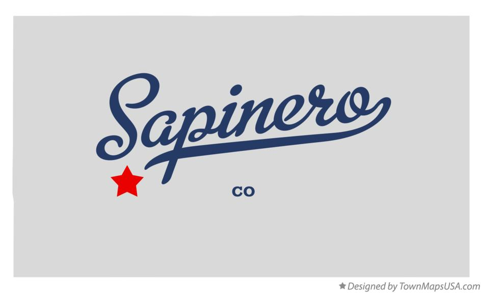 Map of Sapinero Colorado CO