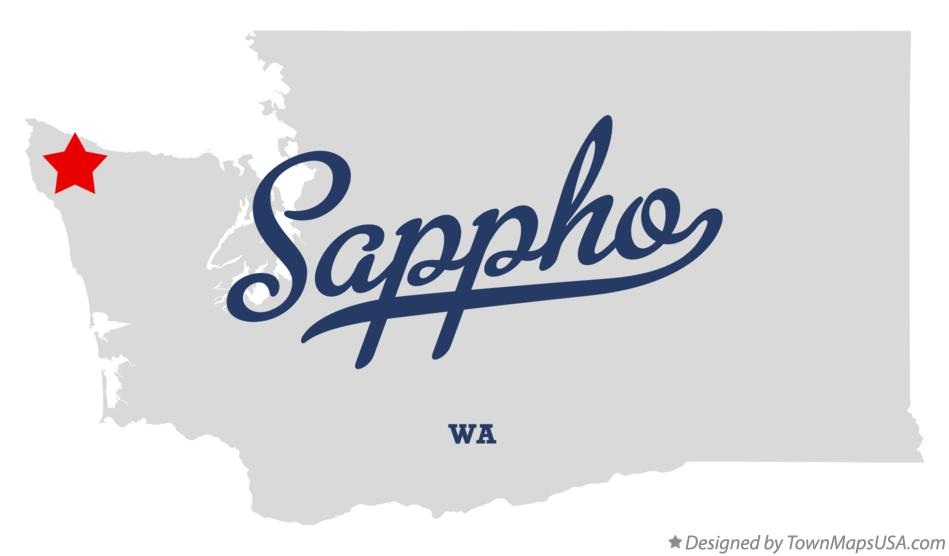 Map of Sappho Washington WA