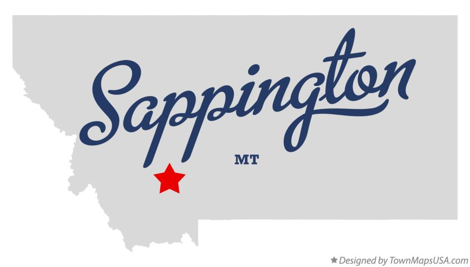 Map of Sappington Montana MT