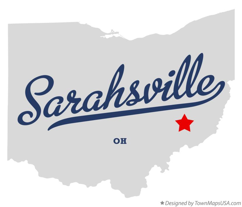 Map of Sarahsville Ohio OH