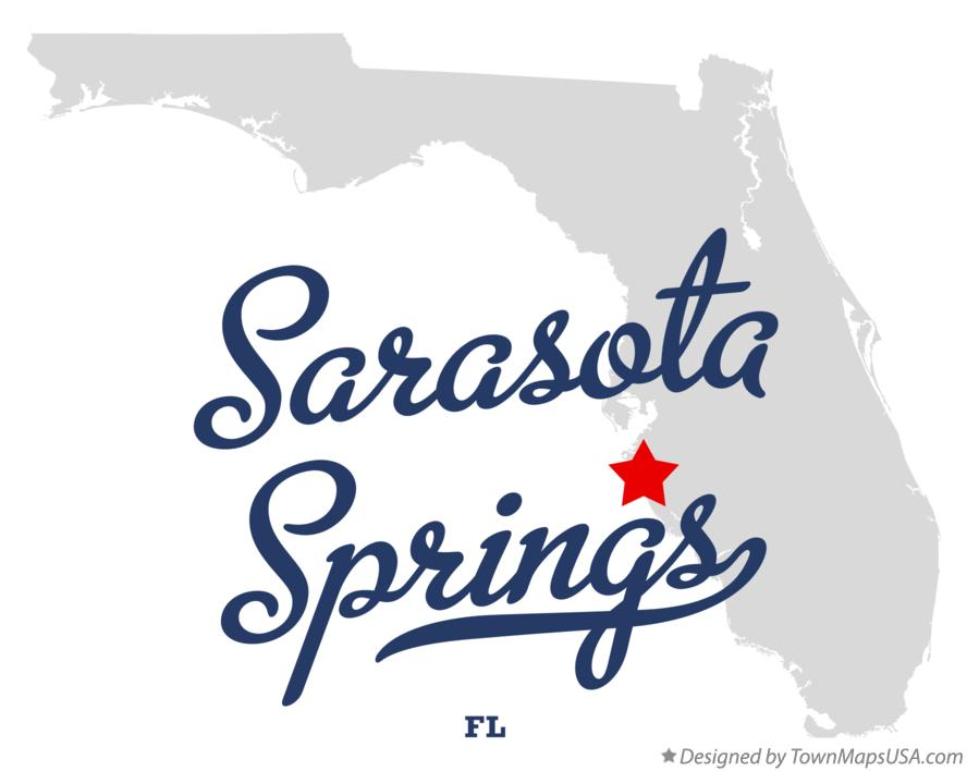 Map of Sarasota Springs Florida FL