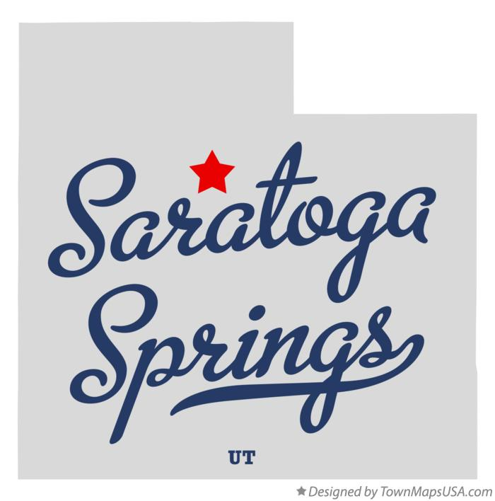 Map of Saratoga Springs Utah UT