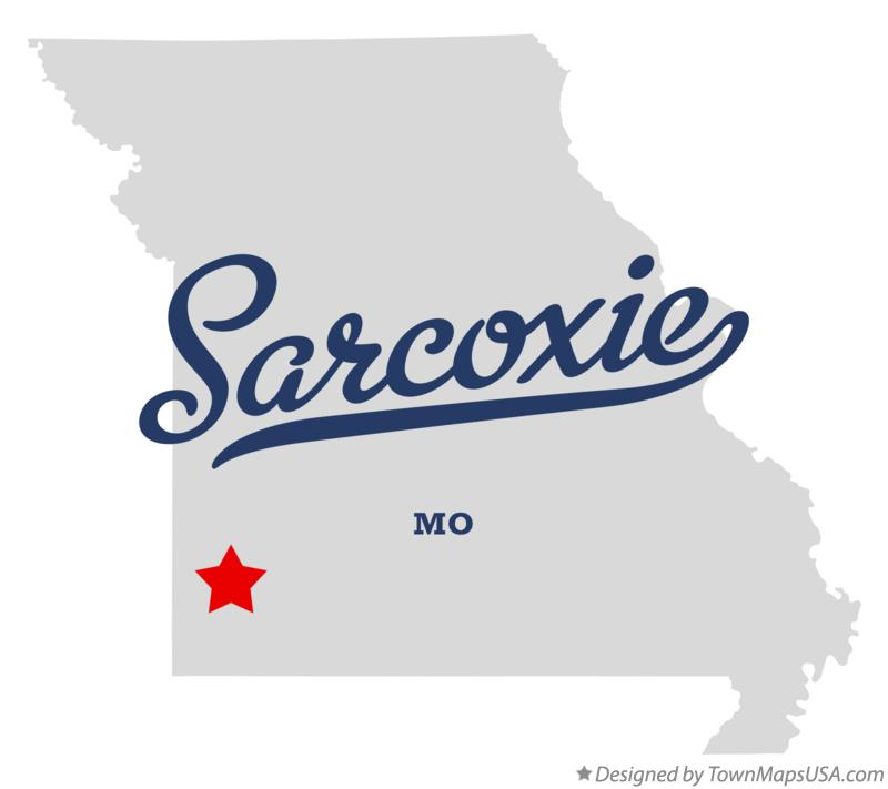 Map of Sarcoxie Missouri MO