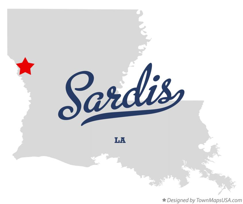 Map of Sardis Louisiana LA