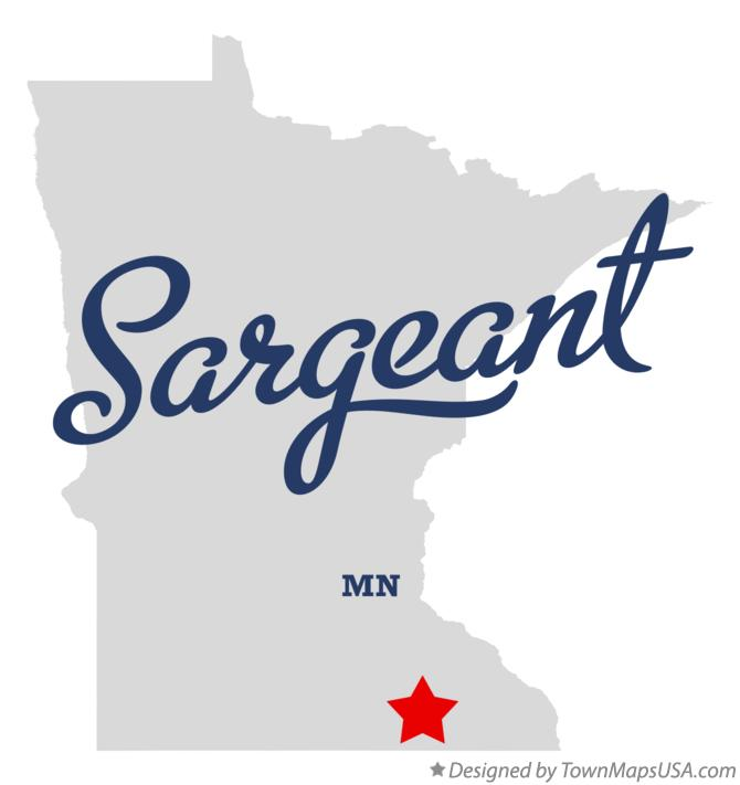 Map of Sargeant Minnesota MN