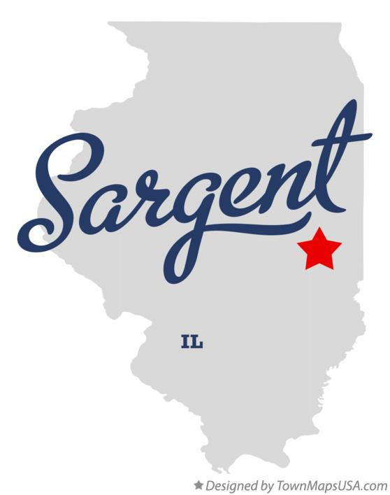 Map of Sargent Illinois IL