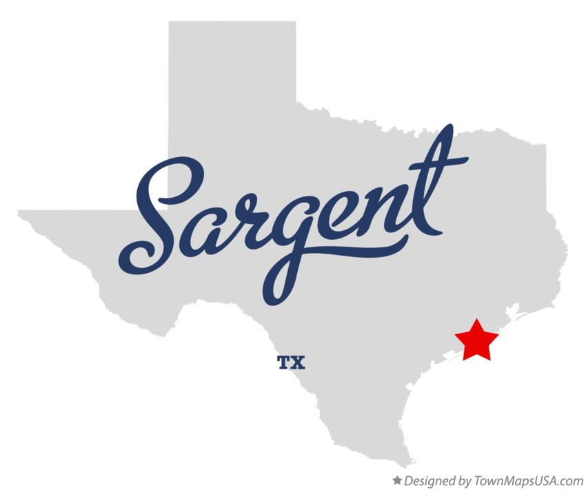 Map of Sargent Texas TX