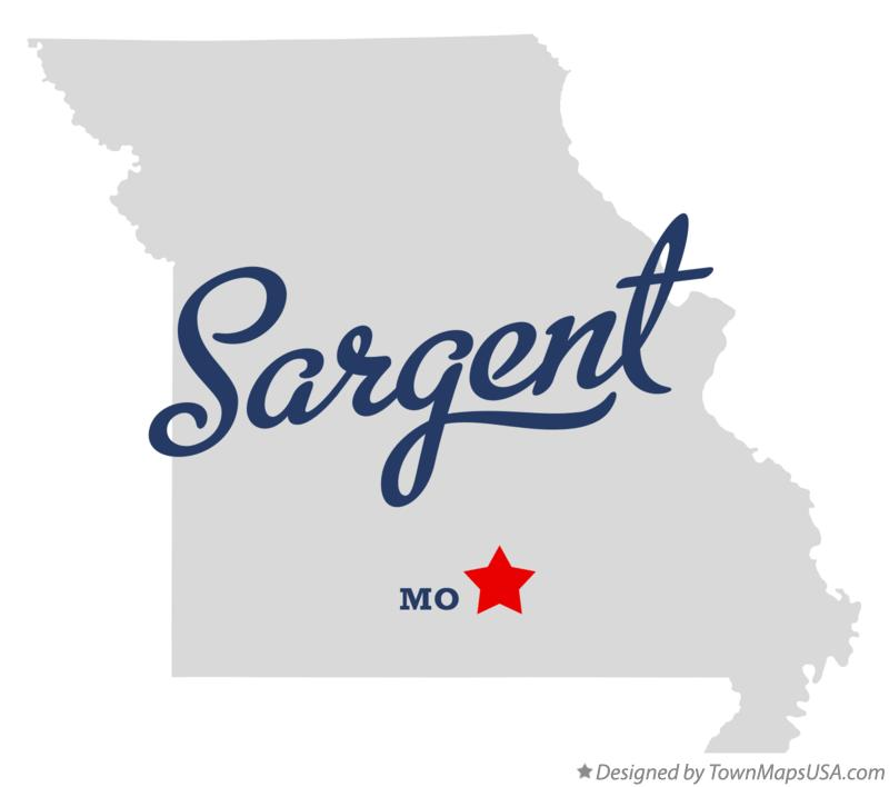 Map of Sargent Missouri MO