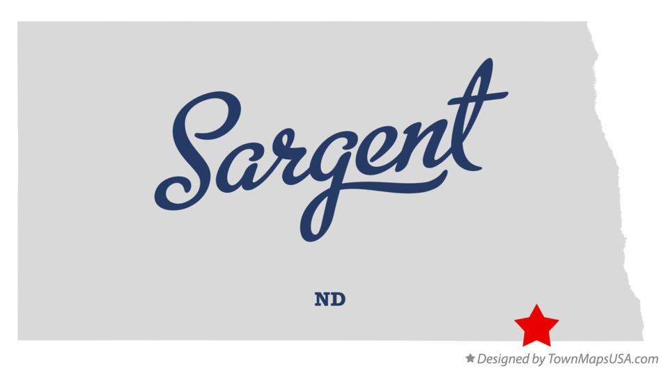 Map of Sargent North Dakota ND