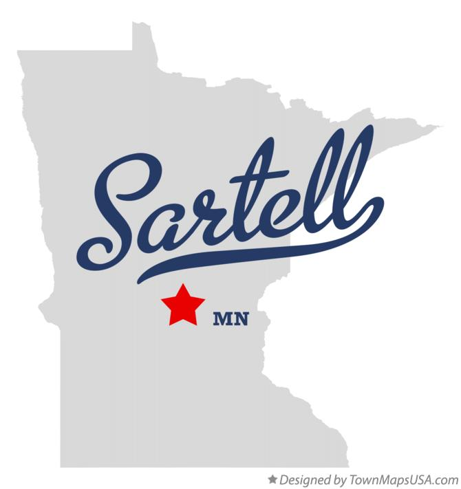 Map of Sartell Minnesota MN