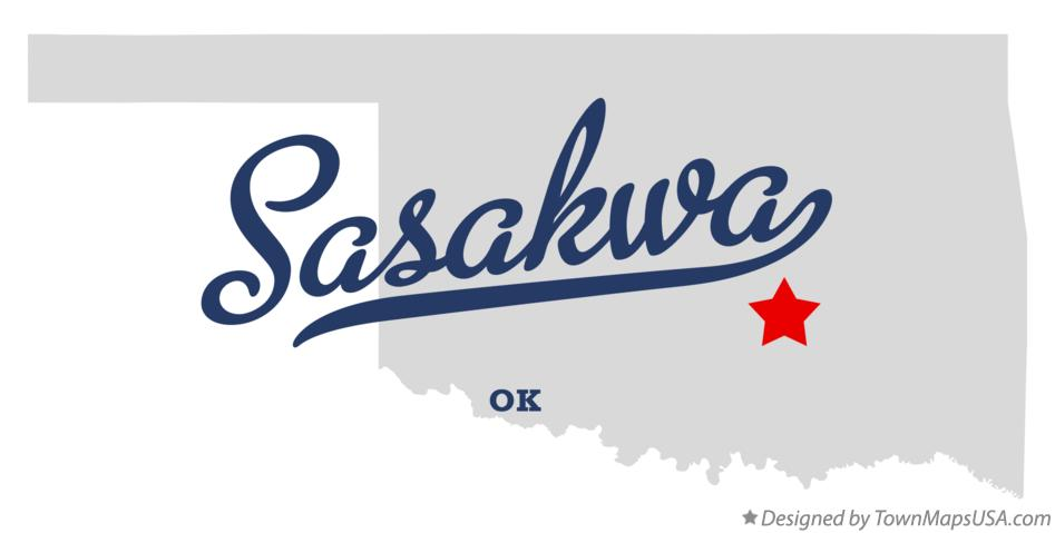Map of Sasakwa Oklahoma OK