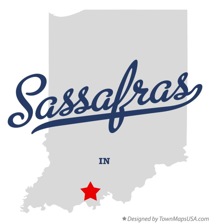 Map of Sassafras Indiana IN