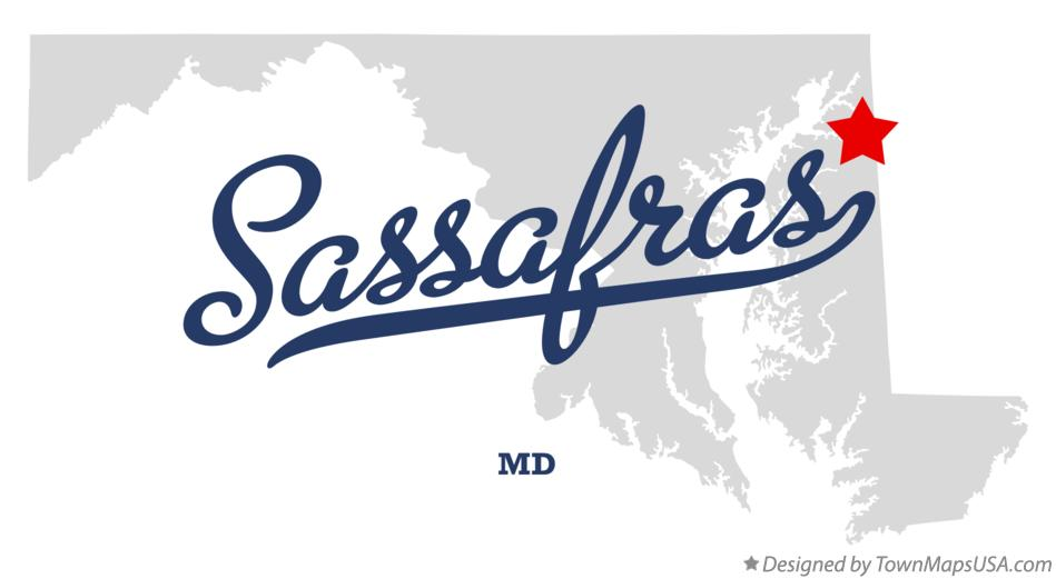 Map of Sassafras Maryland MD