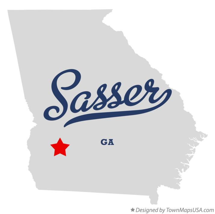 Map of Sasser Georgia GA
