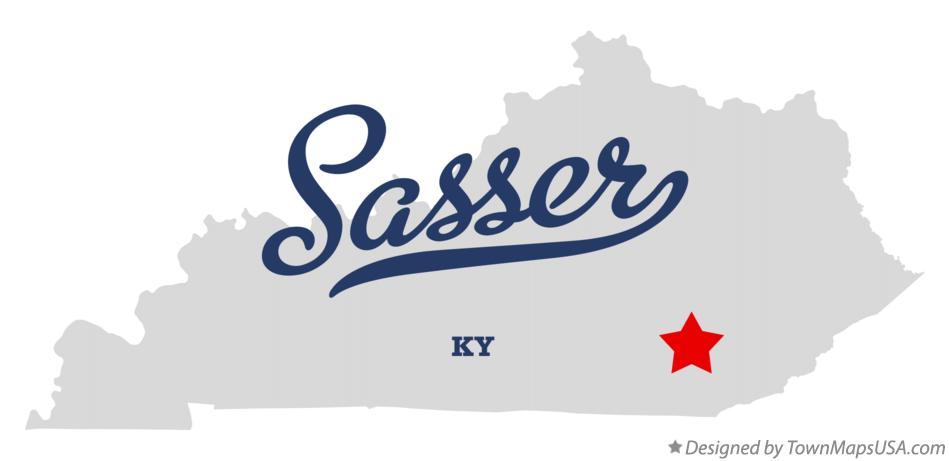 Map of Sasser Kentucky KY