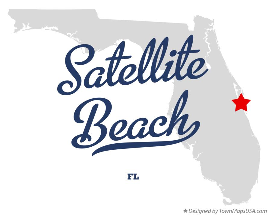 Map of Satellite Beach Florida FL