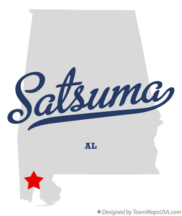 Satsuma Alabama Map: Map Of Satsuma, AL, Alabama