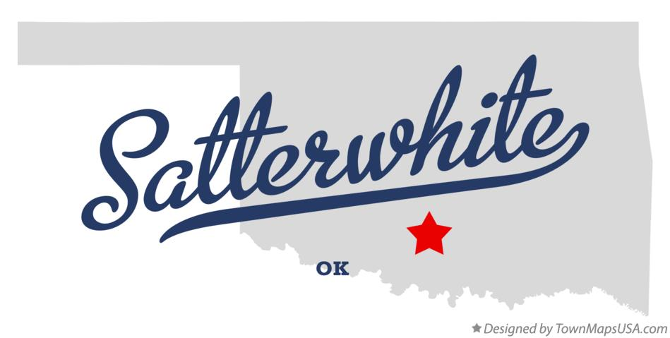 Map of Satterwhite Oklahoma OK