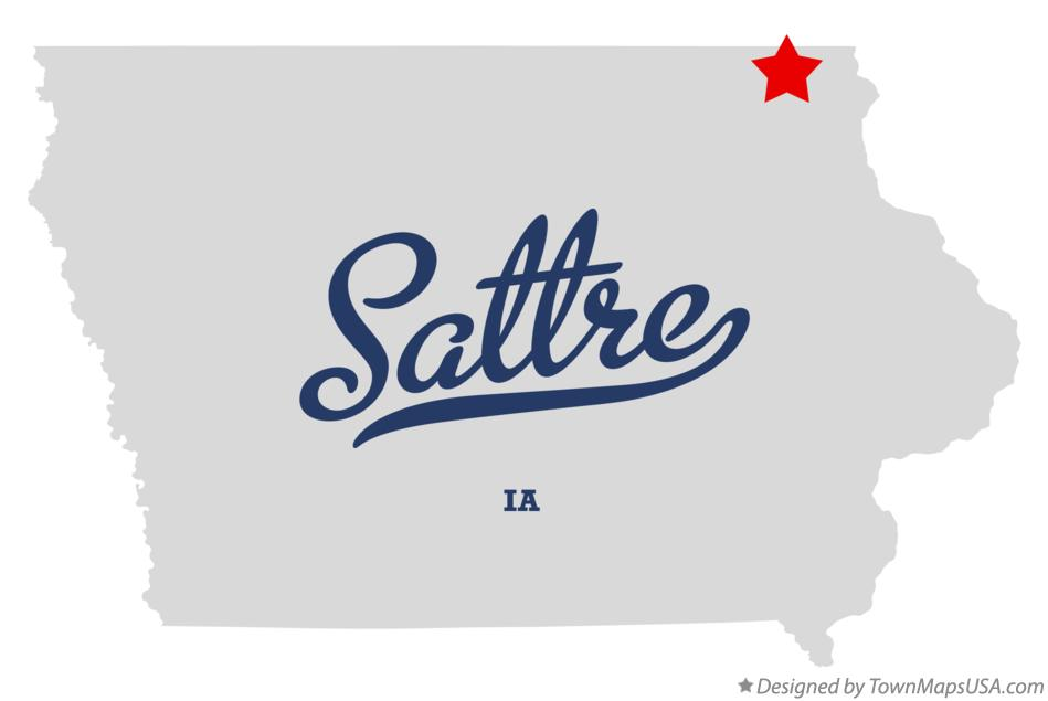 Map of Sattre Iowa IA