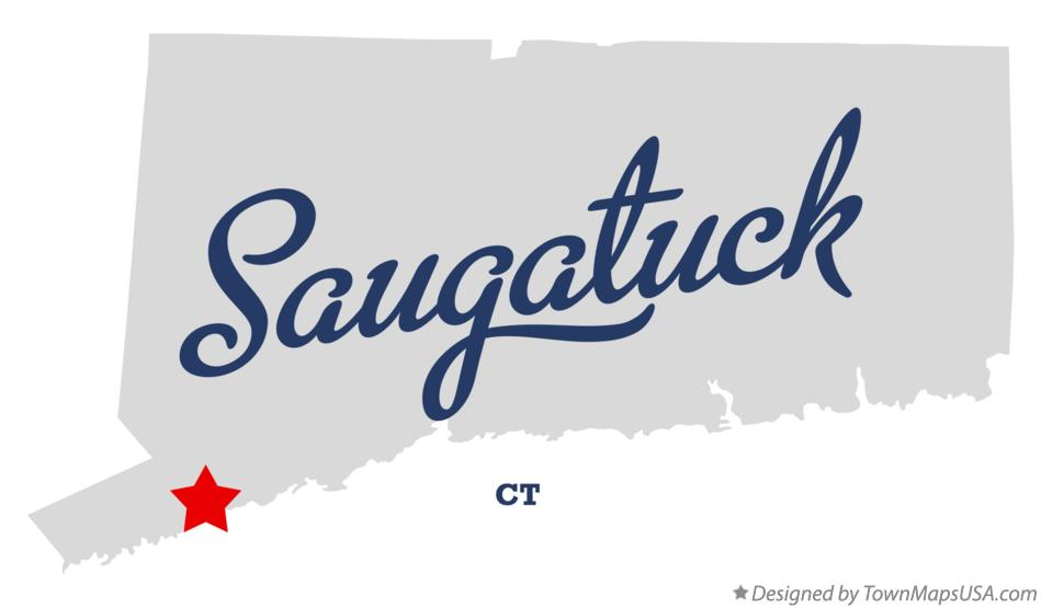 Map of Saugatuck Connecticut CT
