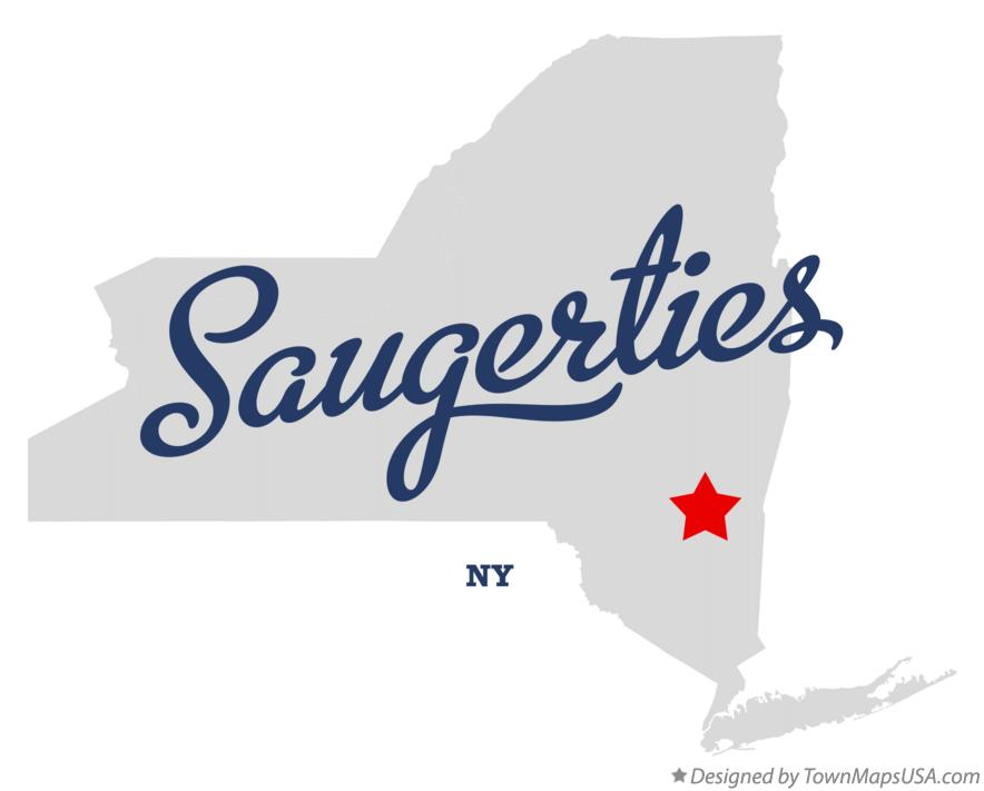 Map of Saugerties New York NY