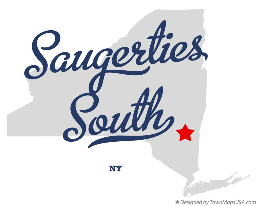 Map of Saugerties South New York NY